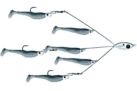 Swimbait alabama rig for Alabama rig fishing