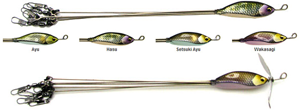 Megabass Spark Rig and Spark Rig Prop castable umbrella rigs with lifelike design! Available color options.