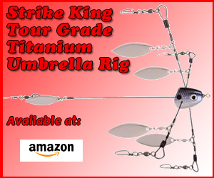 Strike King Tour Grade Titanium Umbrella Rig Sexy Shad